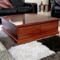 Jarrah Coffee Table with Drawers
