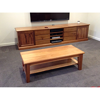 Tasmanian Blackwood coffee table with shelf,to match entertainment unit.1300 mm L x 550 mm W x 450 mm H.