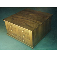 Blackwood Coffee Table with Ample Storage Drawers. 900W x 500H