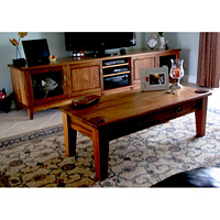 Tasmanian Blackwood Entertainment Unit with matching Coffee Table with Drawers