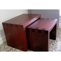 Nest of 2 Jarrah Tables Featuring Box Joints